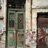 Abandoned retail/commercial space in Plaka, Athens, Greece, May 2012. Photo by John Lett.