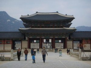 Gyeongbokgung Palace, Seoul, on a visit in 2007