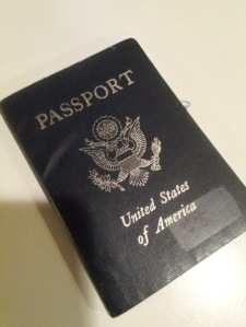 Not so pristine US passport.